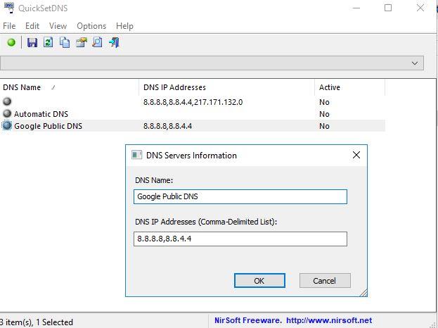 Click image for larger version.  Name:QuicksetDNS.jpg Views:31 Size:36.8 KB ID:175550