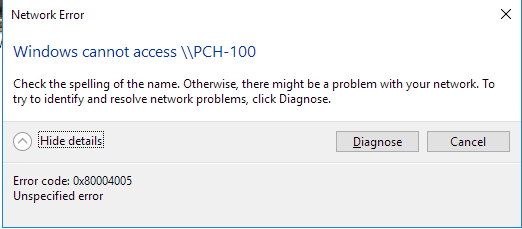 Click image for larger version.  Name:Network error accessing PCH-100.png Views:38 Size:7.5 KB ID:177122