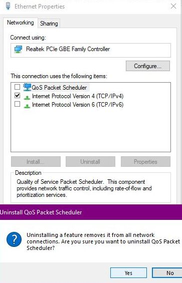 Does Windows 10 reserve 80% of internet bandwidth for the