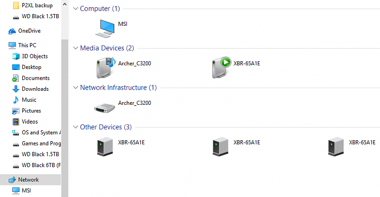 Network sharing, visibility issues between PC, laptop and