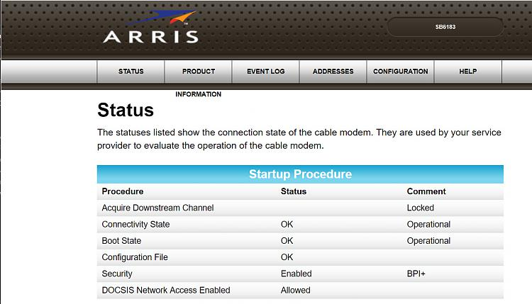 Click image for larger version.  Name:Arris Modem Front Page of Settings 06.22.2018.jpg Views:1 Size:210.5 KB ID:193167
