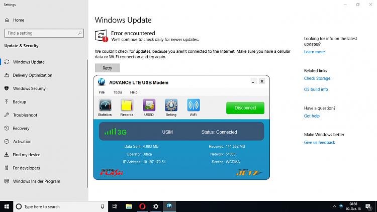Windows 10 October 1809 Error modem connection - Windows 10 Forums
