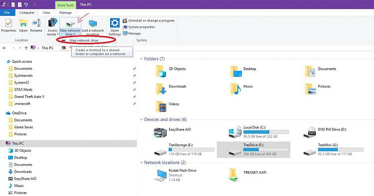 Unable to use network sharing with 2 PCs on Windows 10-mapdrive.jpg