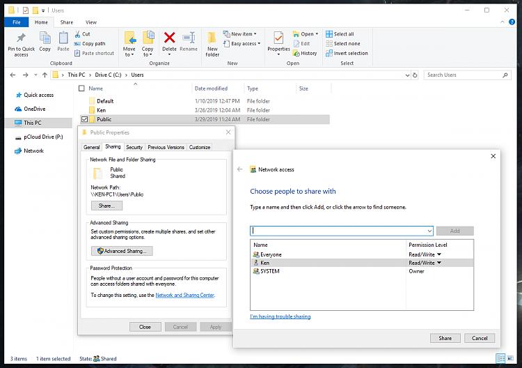 Windows cannot access \\KEN-PC, yet \\KEN-PC\SharedFolder