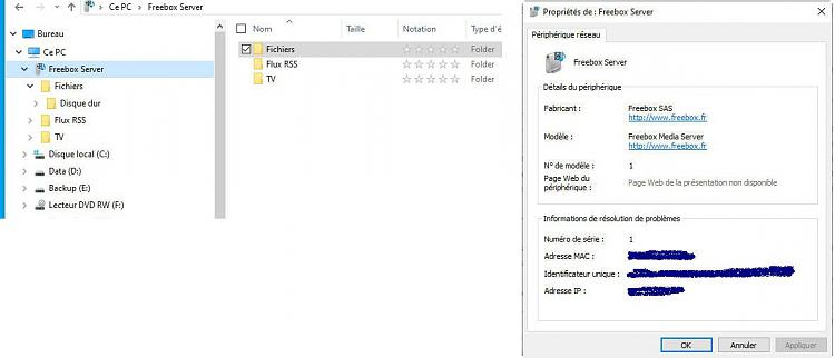 No permission (copy, paste, delete) on my FreeBox Server