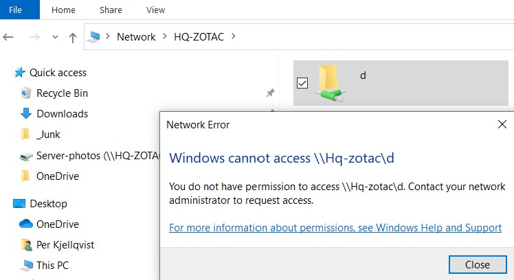Give Access to -> Advanced Sharing, not working on my network-pic2.jpg