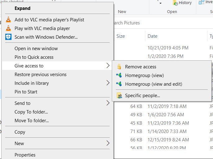 If HomeGroup is gone why is it still offered Windows 10 Home V 1909-giveaccessto.png