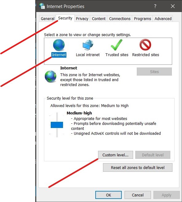 How to troubleshoot downloads that display:  Failed - Network error-0210-inetcpl_security-tab.jpg
