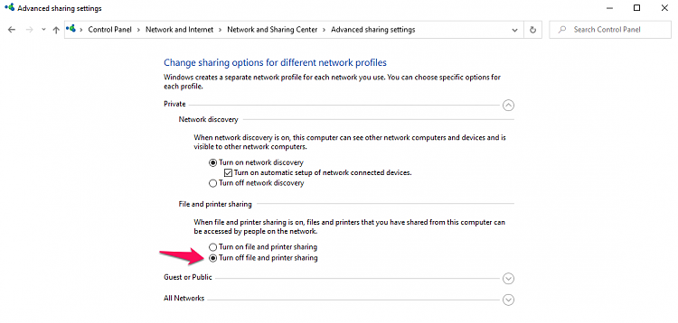 Advanced Sharing Settings keeps resetting-privatenetwork.png