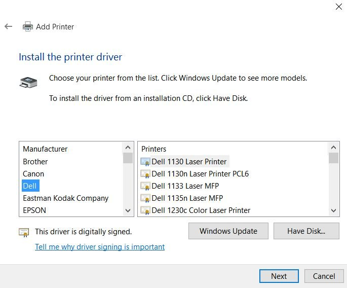 Can't connect to remote printer - Windows 10 Forums