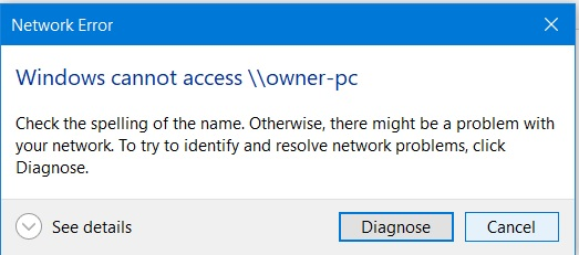 Wifi Connected Can Access Internet but Network Computers Can't Reach I-network-error.jpg