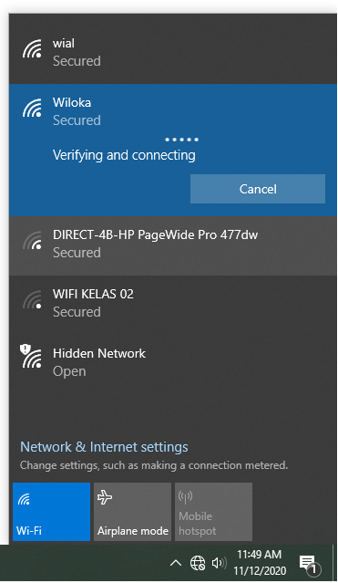 Windows 10 1909 WIFI connection issue-capture.png