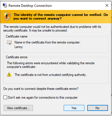 How to determine DHCP range?-identity-remote-computer-cannot-verified.jpg