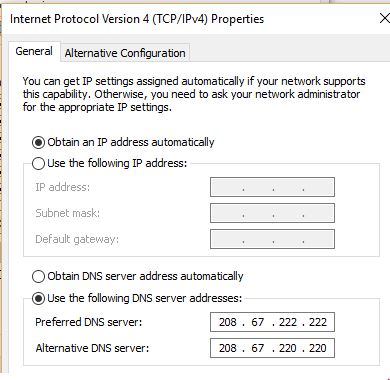 windows 10 can t access websites