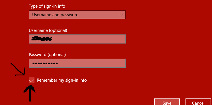 how to find network username and password windows 10