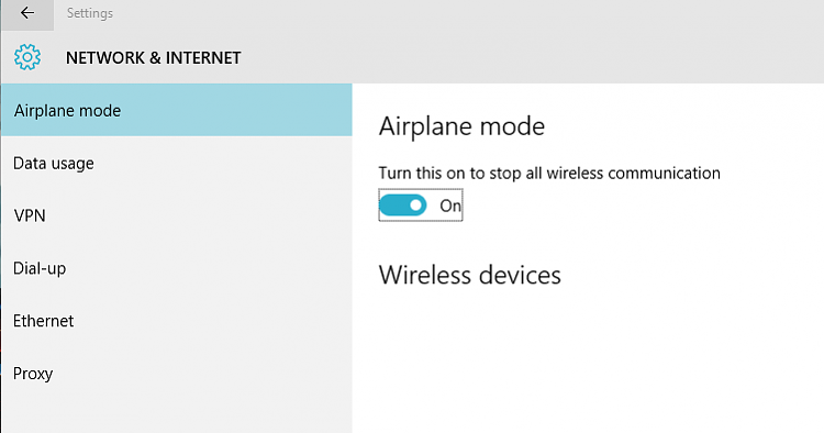 Desktop Airplane Mode Will Not Turn Off Windows 10 Forums