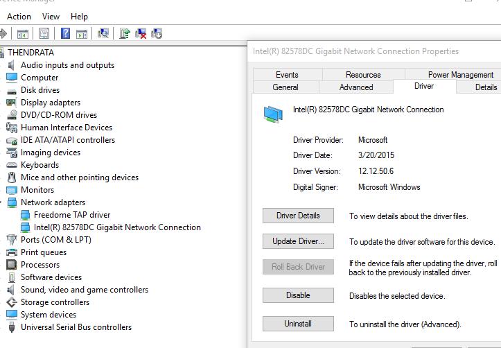 atheros l1 gigabit ethernet driver windows 10 64 bit