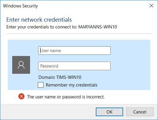 Image result for windows 10 password sharing prompt
