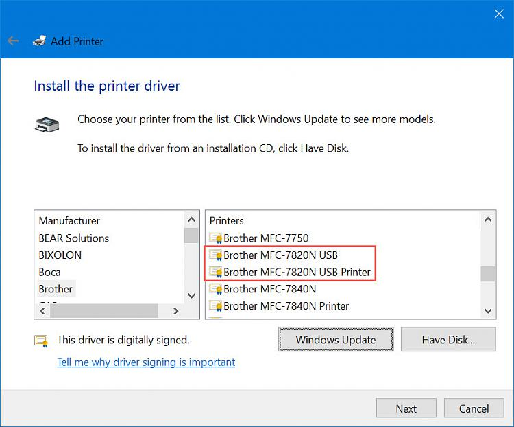 Can't Access networked Brother Laser printer- To print or use Web I