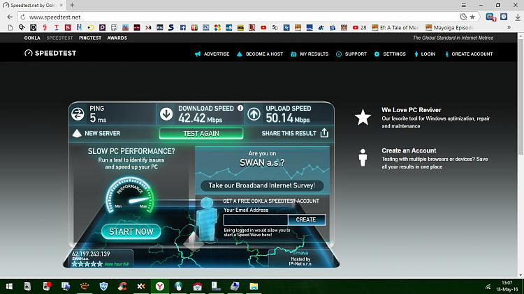 Internet connection speed challenge Solved - Windows 10 Forums
