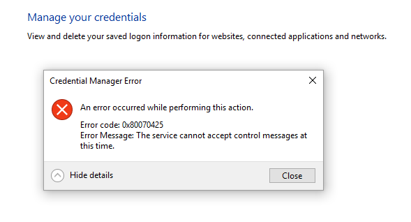 how to find my network credentials windows 10