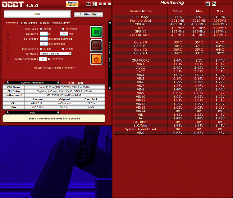 Click image for larger version.  Name:OCCT Values before CPU Test.png Views:2 Size:313.1 KB ID:125073