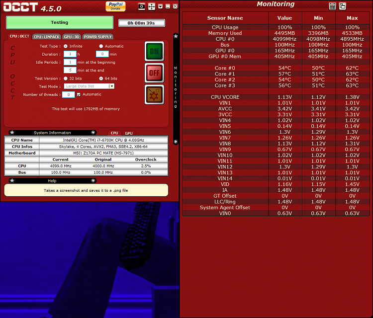 Click image for larger version.  Name:OCCT Values during CPU Test.png Views:2 Size:320.7 KB ID:125074