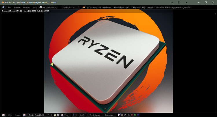Click image for larger version.  Name:Ryzen Render CPU.PNG Views:7 Size:851.3 KB ID:126862