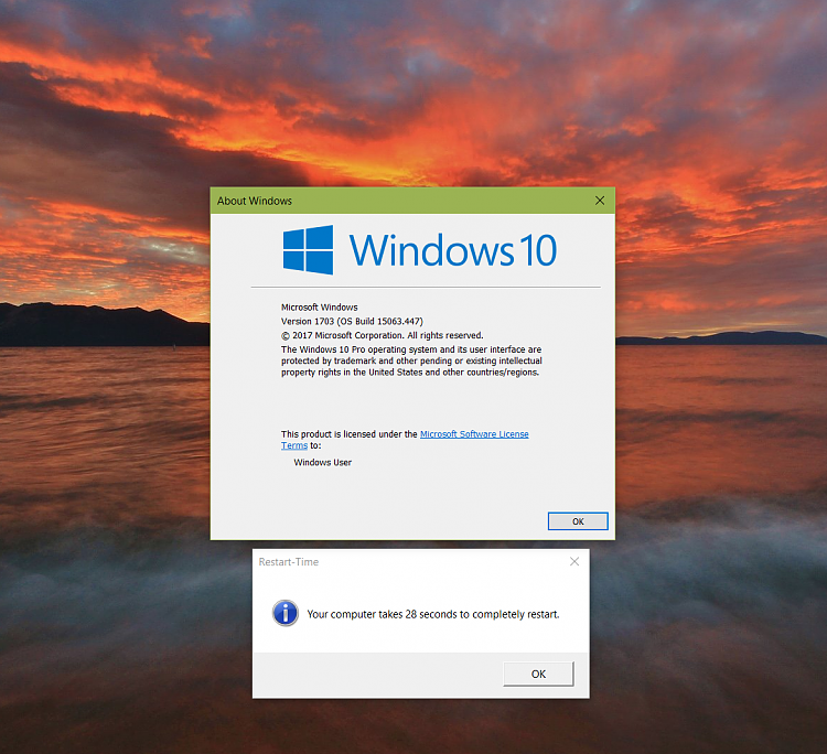how to change restart time in windows 10