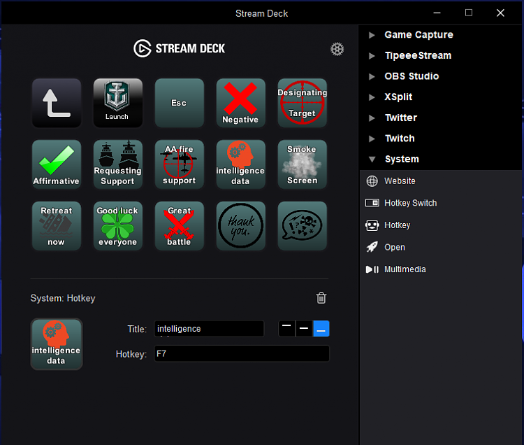 Click image for larger version.  Name:Stream Deck wows.PNG Views:1 Size:92.8 KB ID:155954