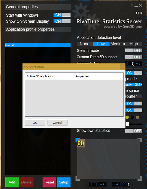 Add a UWP exclusion to MSI Afterburner's OSD - Windows 10 Forums