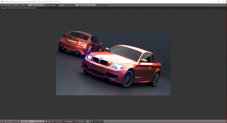 Click image for larger version.  Name:Blender bmw-cpu render 3.00.57.PNG Views:4 Size:943.4 KB ID:167166