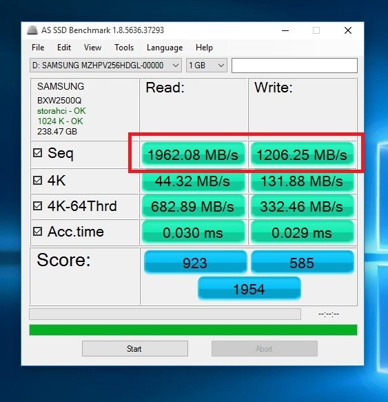 Click image for larger version.  Name:SAMSUNG_256GBPCIE_AS_SSD.jpg Views:173 Size:95.5 KB ID:23195