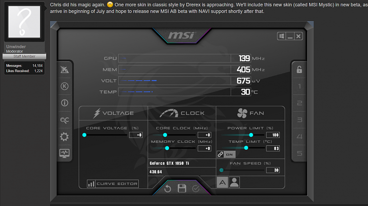 Msi Afterburner Not Working Windows 10