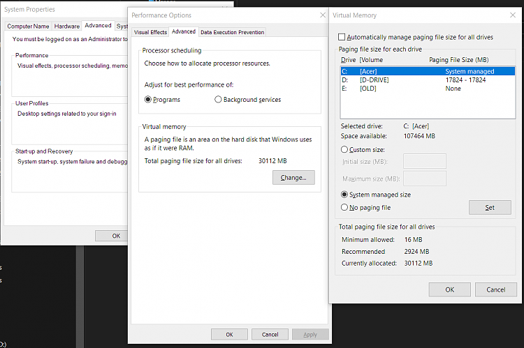 Optimizing RAM and SSD for best performance  - Windows 10 Forums
