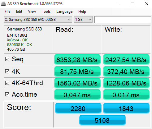 Click image for larger version.  Name:AS SSD Benchmarking Z170 MBps.PNG Views:21 Size:26.7 KB ID:49579
