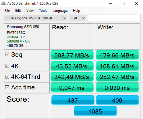 Click image for larger version.  Name:AS SSD Benchmarking Z170 MBps NoRapid.PNG Views:12 Size:26.8 KB ID:50115