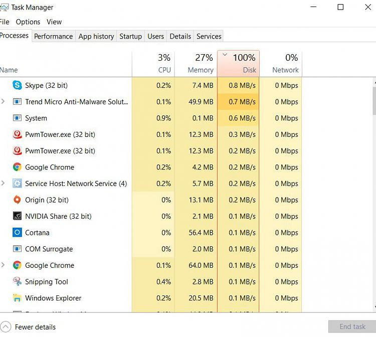 Running Barely Anything: Disk At 100% - Windows 10 Forums