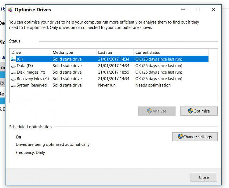 Calling SSD users. What does your 'Optimise' window show ?-optimise.jpg