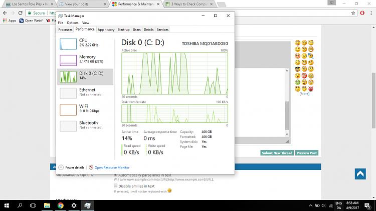 Windows 10 100% Disk Usage, constant spiking Solved