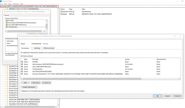 Windows 10 Event ID 10010 and 10016 Errors With
