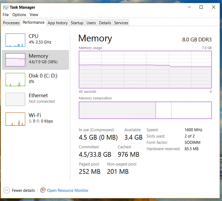 Click image for larger version.  Name:snip task mgr performance memory after clean boot.PNG Views:4 Size:101.5 KB ID:141353