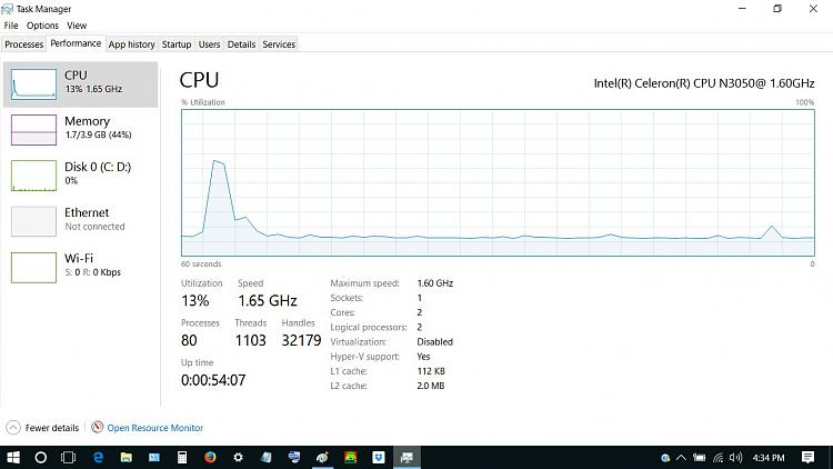 Click image for larger version.  Name:lo performance graph idle.jpg Views:6 Size:162.4 KB ID:142643
