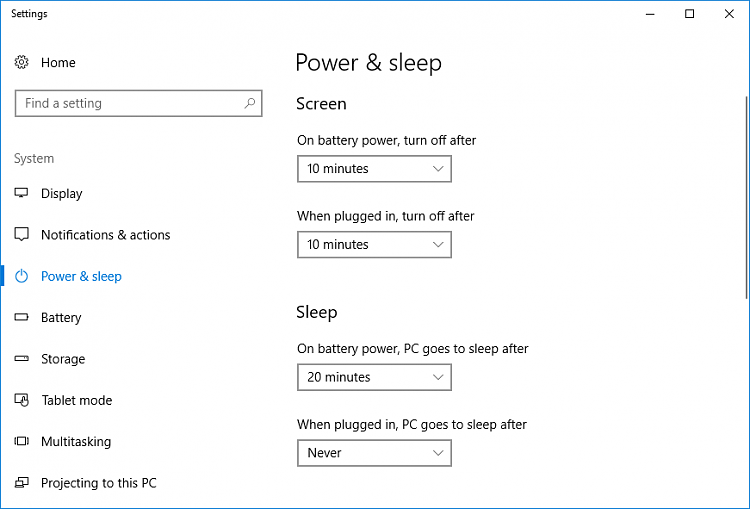 Win 7 to Win 10, how do I prevent sleep/time out? ON 24/7 Solved