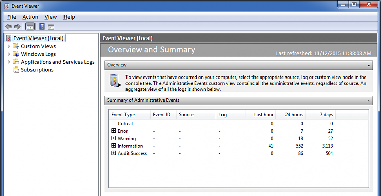 Click image for larger version.  Name:Event Viewer.png Views:3 Size:50.5 KB ID:170605