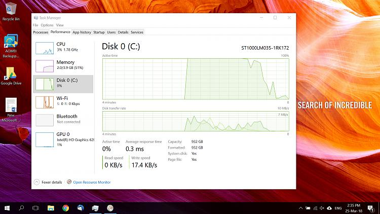 Very slow boot time - 100% disk active time - Windows 10 Forums