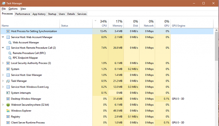 High Idle CPU Usage After Win 10 Reset and Update Solved - Windows