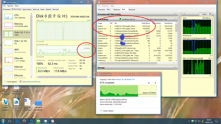 Windows 10 clean install laggy and slow-disk.png