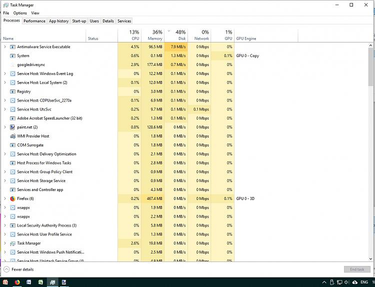 How do I fix a slow PC with 50% disk usage but 100% on the main HDD?-processes.jpg
