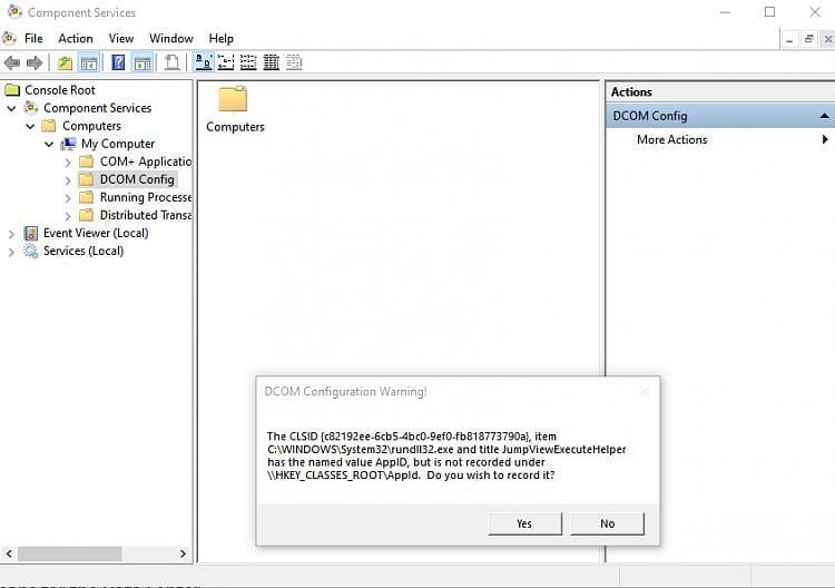 DUplicate rundll32 exe in DCOM - Windows 10 Forums